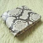 Snakeskin Leather Wallet M..